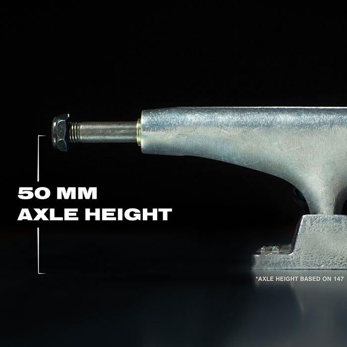 50mm axle height.