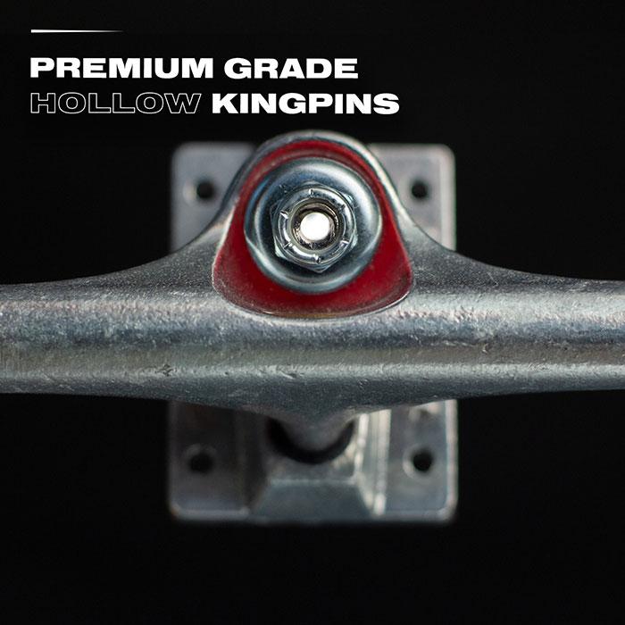 Premium grade hollow kingpins.